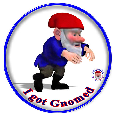 Noggin the Gnome I Got Gnomed Fridge Magnet