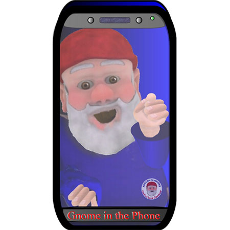 Noggin the Gnome Phone cases – Gnome in the phone