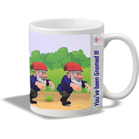 Noggin the Gnome Mug – walking